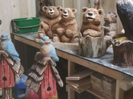Small Bear Chainsaw Carvings