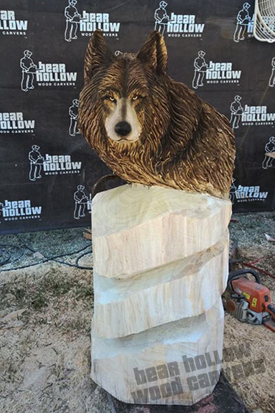 Small chainsaw sculpture gallery bear hollow