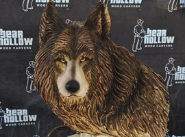 Wolf Chainsaw Carving Sculpture